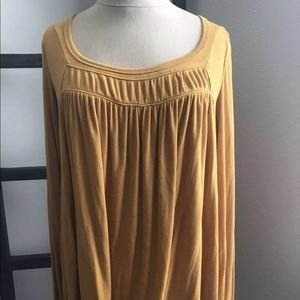 Free People Love Valley Long High/Low Shirt XS